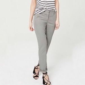 Ann Taylor LOFT Julie Ankle Pants Light Grey 10